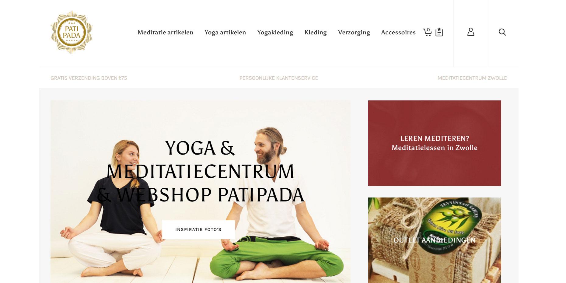 webdesign patipada meditatie