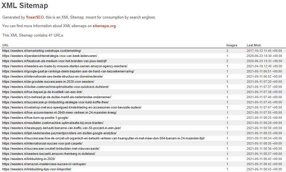xlm sitemap seeders postberichten